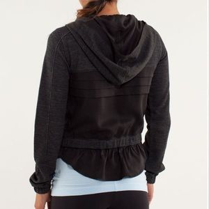 Lululemon Sattva Jacket Black/Grey Cropped